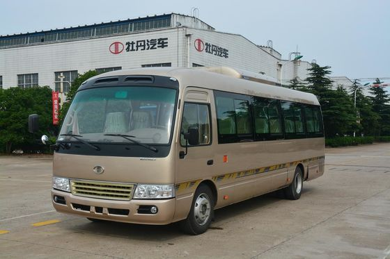 China Art elektrischer Mini-19 Passagier-Bus-kleiner Passagier-Bus Mitsubishis Rosa RHD usine